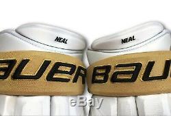 James Neal Signed / Game Used 17 1st Goal & Season Vegas Knights Gloves JSA COA