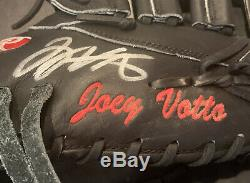 Joey Votto Cincinnati Reds Game Used Fielding Glove 2015 Signed PSA LOA