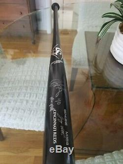 Joey Votto autographed game used bat with inscription NL MVP