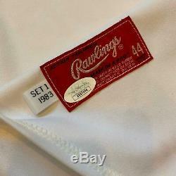 Johnny Bench Signed 1983 Cincinnati Reds Game Used Jersey PSA DNA