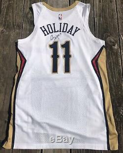 Jrue Holiday New Orleans Pelicans Game Used Issued Nike Pro Cut Signed Jersey