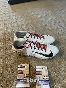 Justin Fields Ohio State Football Cleats Game Used And Signed JSA