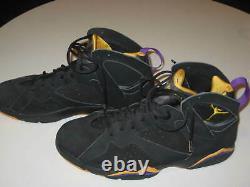 KOBE BRYANT Signed GAME USED Rare Air JORDAN 7 Shoes from 2002-03 Season
