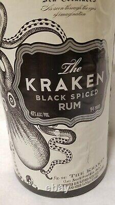 KRAKEN RUM Liquor Octopus Tentacle & Bottle Display MAN CAVE Bar GAME ROOM RARE