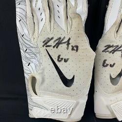 Kareem Hunt autographed game used gloves NFL Cleveland Browns PSA and LOA