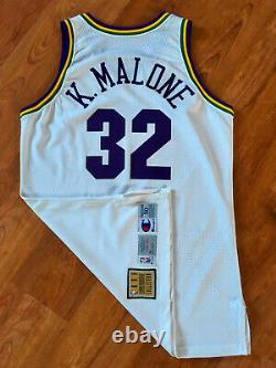 Karl Malone Utah Jazz 1992-93 NBA SIGNED AUTOGRAPHED Pro Cut Game Issued Jersey