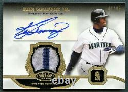 Ken Griffey Jr 2013 Topps Tier One Gold Game-used Patch Auto Autograph /99 Rare