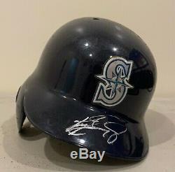 Ken Griffey Jr Signed Mariners Game Used #24 Batting Helmet Sz 7 1/4 AUTO HOF
