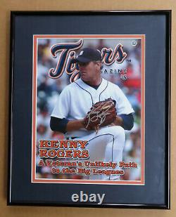 Kenny Rogers Detroit Tigers Game Used Jersey 2006, Signed Program Beckett COA