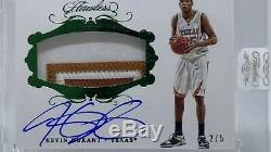 Kevin Durant Auto /5 Flawless Collegiate Game Used Autographed Jersey Patch Mint