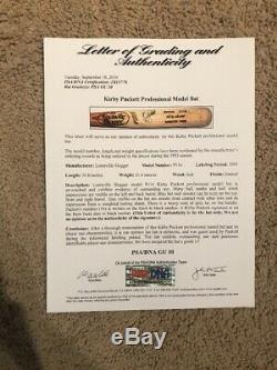 Kirby Puckett 1993 LVS Game Used Signed Bat Minnesota Twins Auto PSAGU10