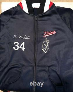 Kirby Puckett Game Used Signed Dugout Jacket Twins JSA CIRCA 1985-87