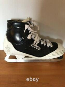 Kirk McLean Signed Autographed Game Used Bauer Goalie Skates Vancouver Canucks