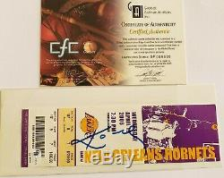 Kobe Bryant Autographed Game Used ticket 2006 Lakers vs. Hornets 4/19/06