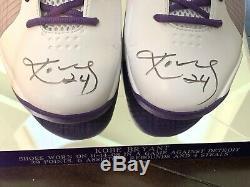 Kobe Bryant Dual Signed Autographed Game Used Worn Nike Kobe IV Shoes Full LOA