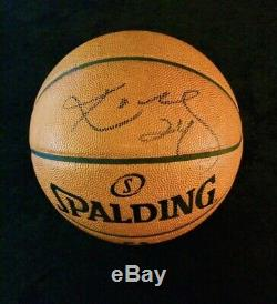 Kobe Bryant Game Used Signed Auto Ball Lakers