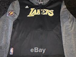 Kobe Bryant Lakers Signed Game Used Worn 20015-16 Final Season Warm Up Jacket
