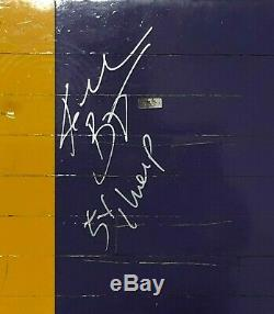 Kobe Bryant Signed Game Used Los Angeles Lakers Floor Piece 5x Champs Panini