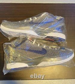 Kobe Bryant Signed Game Worn Used Shoes- Kobe 6 China (READ DESCRIPTION! RARE!)