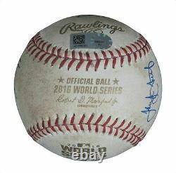 Kris Bryant Chicago Cubs Signed 2016 World Series Game 6 Game Used Baseball JSA