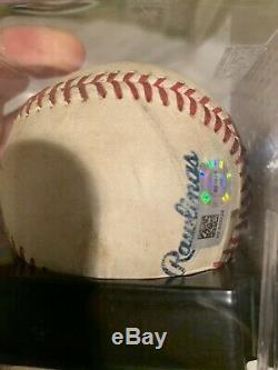 Kyle Schwarber Cubs Autographed Game Used Mlb Debut Baseball 6/16/2015 Mlb/psa