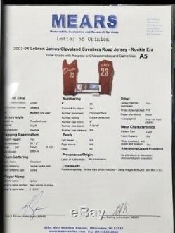 Lebron James Signed Autographed 2003 Game Used Rookie Jersey Mears UDA COA + LOA