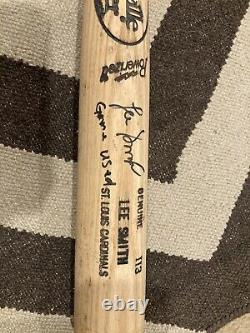 Lee Smith Game Used/issed Signed Bat St. Louis Cardinals. No Reserve