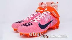Leonard Floyd Game Used Signed Cleats Chicago Bears Vs Dallas Autograph