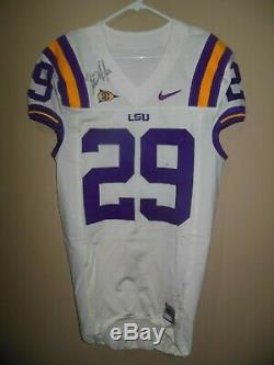 Lsu Tigers Les Miles Autographed Game Used Football Jersey /sugar Bowl Patch