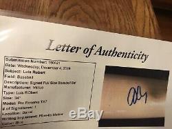 Luis Robert Game Used Signed Bat JSA