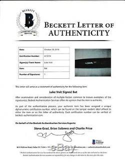 Luke Voit Rideau Crusher Game Used Autographed Bat Yankees BECKETT LOA