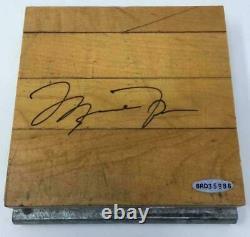 MICHAEL JORDAN Autographed Chicago Bulls Three Peat Game Used Floor UDA LE