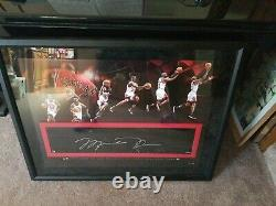 MICHAEL JORDAN Autographed Signed floor piece Upper Deck game used limited UDA