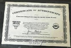 MICHAEL JORDAN & SCOTTIE PIPPEN Signed Game Used Chicago Bulls Floor UDA 13/72
