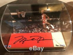 MICHAEL JORDAN UDA Game Used Floor Bulls Auto Autograph Signed 5/100