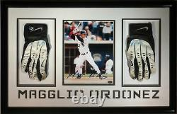 Magglio Ordonez Signed Framed Authentic Game-Used Batting Gloves 8x10 Photo COA