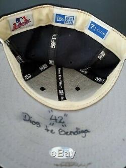 Mariano Rivera 2006 Signed Game Used Hat Yankees Cap Auto Steiner Sports Coa