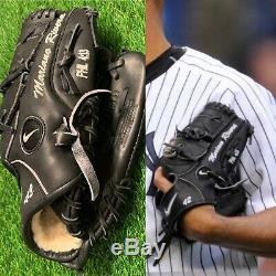 Mariano Rivera New York Yankees Game Used Fielding Glove 2010 Signed Steiner