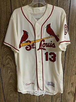 Matt Carpenter 2018 Game Used Alternate Jersey Autographed Cardinals Great Use