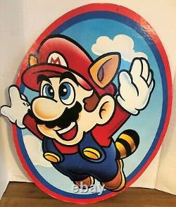 McDonalds Super Mario Bros Store Display 22x18 Large Cardboard 1990 Sign