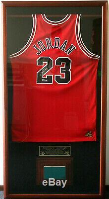 Michael Jordan'98 Nba Finals L. E. Signed Jersey Utah Final Game Used Floor Uda