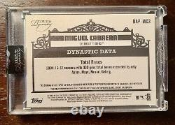 Miguel Cabrera 2019 Topps Dynasty Sealed Game Used Patch Auto 6/10