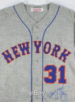Mike Piazza Signed Game Used 1969 Tbtc New York Mets 7-17-1999 Jersey Jsa Loa