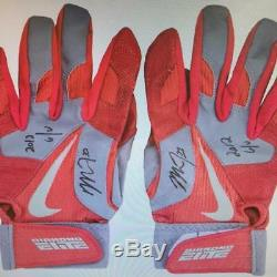 Mike Trout 2012 Rookie Year Game Used Batting Gloves Signed RC 2 Auto! Anderson