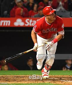 Mike Trout 2019 MVP Year Cracked Game Used Signed Bat with MLB & Anderson Certs