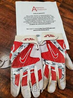 Mike Trout Angels Autographed Signed Game Used Batting Gloves