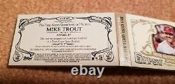Mike Trout Angels Topps signed game used logo jersey relic auto book 5/5 1/1 WOW