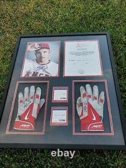 Mike Trout Autographed Signed 2014 Game Used MVP Batting Gloves