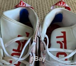 Mike Trout GAME USED 2018 CLEATS game worn SIGNED auto ANGELS MVP