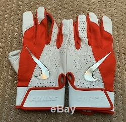 Mike Trout GAME USED 2019 BATTING GLOVES PAIR game worn SIGNED auto ANGELS